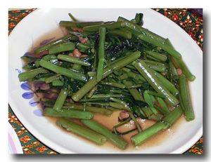パックブン・ファイデン 空心菜の炒め物