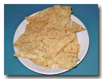 マサラ・パパドゥ 米粉の煎餅