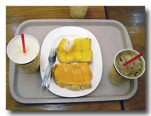 ココナッツカスタードとバタートースト