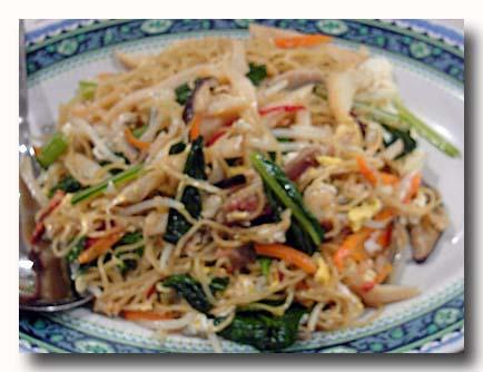 沙桂花面 炒麺 チャン麺