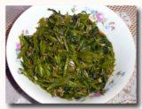 トゥミス・カンクン 空心菜の炒め煮