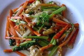 ミー・ザオ mì xào lagim [中華麺の焼きそば]