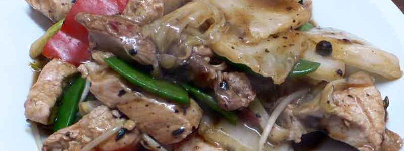 チャンチョ・コン・タウシ chancho con tausi [豚肉の豆豉炒め]