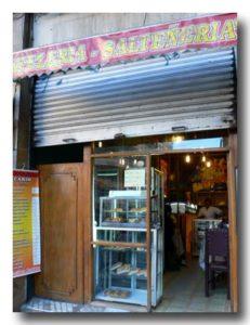 ラパスのお菓子屋