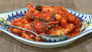 茄汁蒜茸蝦 camaroes fristosa [エビのニンニクトマトソース]