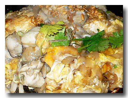 オースワン(タイ風牡蛎の卵とじ)