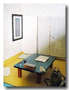 河回村の食堂の一室