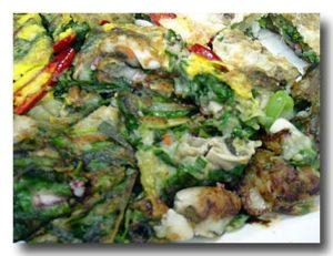 クルパジョン 牡蛎と葱の韓国風お好み焼き