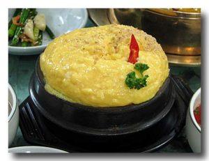 ふわふわケランチム 韓国風茶碗蒸し 横からのショット