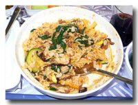 大韓航空機内食 エコノミークラス ビピンパブ 混ぜた後