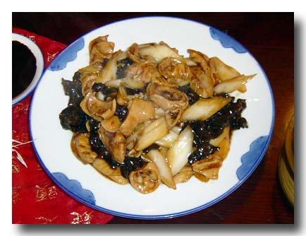 大腸白菜炒木耳