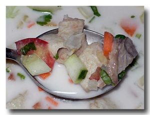ミティ 魚のココナッツクリームソース アップ