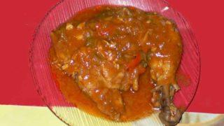 ポジョ・ア・ラ・バルバコア pollo a la barbacoa [バーベキューチキン]