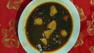 ポターヘ・デ・フリホール・ネグロ potaje de frijol negro [黒豆のポタージュ]