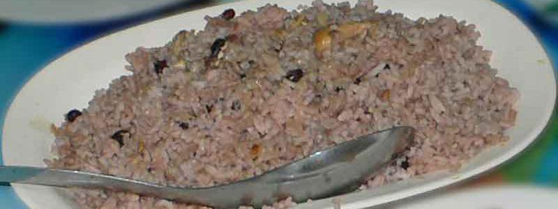 アロス・コングリ arroz congrí [キューバ風黒豆ご飯]