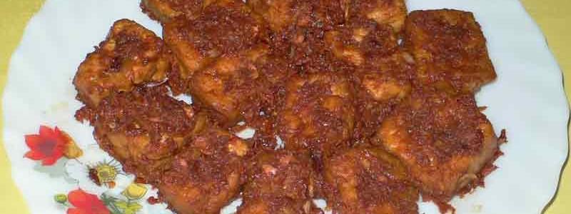 タフ・ゴレン・サンバル・トゥラシ tafu goreng sambal terasi [揚げ豆腐の辛みそ炒め]