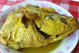 イカン・クア・クニン ikan kuah kuning [魚のターメリックスープ煮]