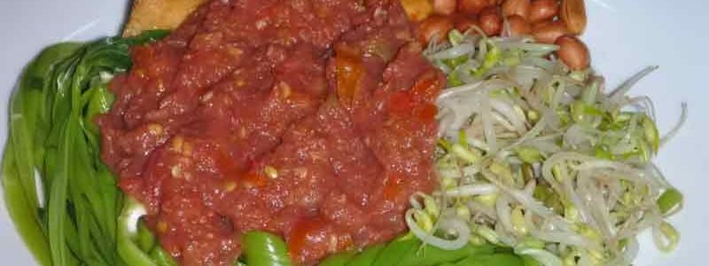 プルチン・カンクン plecing kangkung [空芯菜の辛味和え]