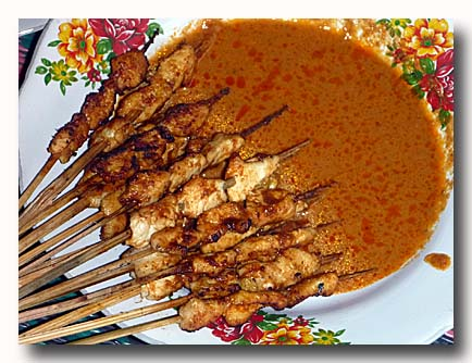 サテ・アヤム・ササック 焼き鳥 ササック風鶏の串焼き
