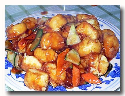 紅焼日本豆腐 タマゴ豆腐と野菜の炒め物