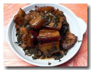 梅菜扣肉  中国の客家円楼の食堂で食べたもの