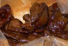 紅焼鶏肝 hóng shāo jī gān [鶏肝の醤油煮]
