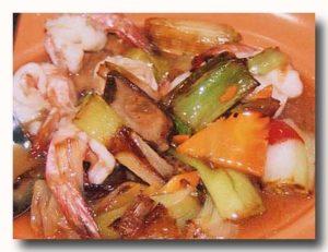 炒葱蝦球 葱と蝦の炒め物