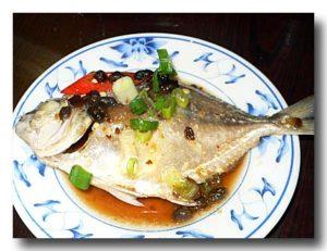 清蒸銀鯧魚 マナガツオのチンジャオ