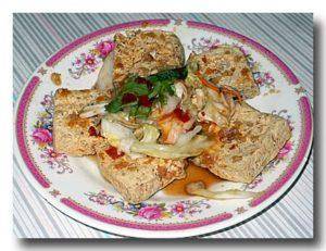 臭豆腐の皿