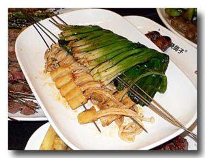 焼葱串 葱の串焼き