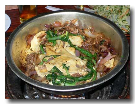 焼牛肉 鍋焼き肉