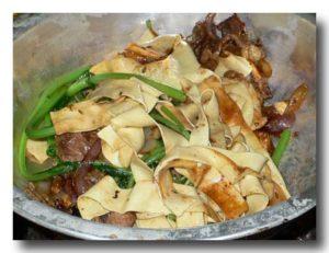 焼牛肉の〆の焼きうどんのような豆腐!