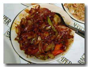 ソーセージ・チリ ソーセージと野菜のケチャップ醤油炒め