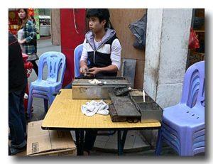 麻糍 ごま団子を制作