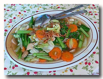 チャプチャイゴレン 野菜炒め バリ