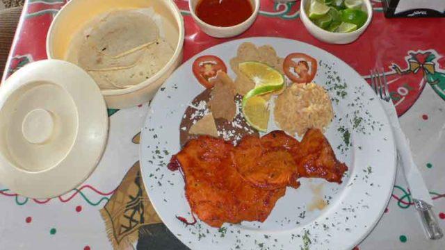 エンチラーダス enchiladas [トルティーヤのサルサがけ]