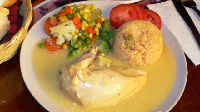 ポジョ・アル・アヒージョ 鶏肉のニンニクソース