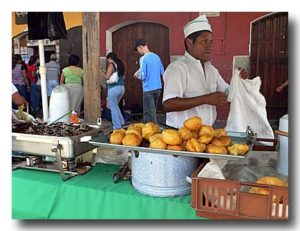 ブニュエロ Buñuelo シュー風ドーナッツを売る屋台
