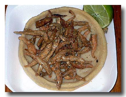 チャラレス charales 小魚のフライ