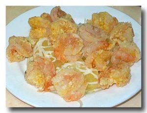 鳳梨蝦球 海老フライのパイナップル添え