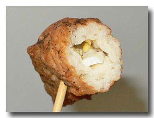 旗魚黒輪 カジキマグロの卵入り薩摩揚げの断面