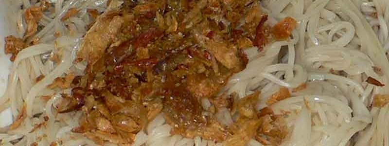 麻油麺線 má yóu miàn xian [台湾素麺のごま油和え]
