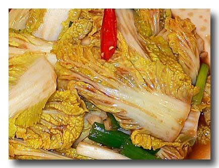 高冷娃娃菜 ベビー白菜の炒め物 アップ