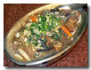 油條鮮蚵 [牡蠣と油条の煮込み]