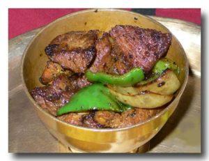 カシ・コ・セクワ ネパール風羊の串焼き