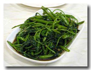 パックブン・ファイデン 空心菜の炒め物3