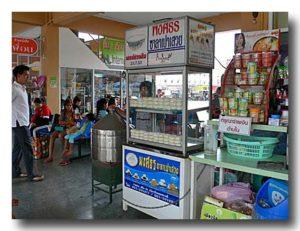 チェンマイバスターミナルのサラパオ売り屋台
