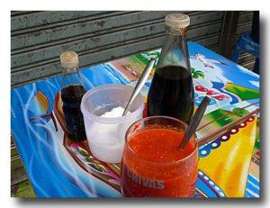 魚の浮き袋のあんかけスープ屋台の調味料セット