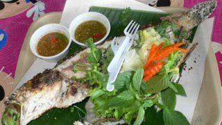 プラーパオクルア 焼き魚