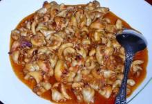 シャコ貝のトマト炒め インドネシア風
